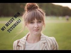 Messy bun by Maddy - TUTORIAL - YouTube