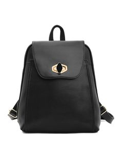 Black Zipper Backbag | Choies