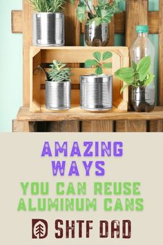 Here are some awesome ways that you can reuse aluminum cans. What should you do with old cans? Upcycle them! What some consider garbage, others can turn into art and crafts projects, making jewelry, flowers, and other cool DIY items. Take a look at SHTF Dad's post for more details and get started on your upcycling projects now. #upcycle #recyclingcans #aluminumcans #diyaluminumcancraft Aluminum Can Crafts, Aluminum Cans, Arts And Crafts Projects, Fun Crafts, Repurpose, Reuse, Backyard Farmer, Long Term Food Storage, Upcycling Projects