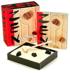 Combat stress with an entirely different kind of garden- this would be super cool to have on our coffee table for guests to play with: Mini Zen Gardening Kit (Mega Mini Kit Series) @barnesandnoble.com