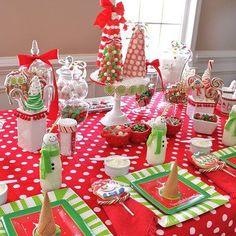 Candy Christmas Tree Tablescape