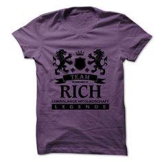 RICH Team Life Time Legend T Shirts, Hoodies, Sweatshirts. GET ONE ==> https://www.sunfrog.com/Valentines/RICH-Team-Life-Time.html?41382