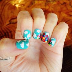 Pin for Later: Celebrate Disneyland's 60th Anniversary With Magical Manicures Up, Up, and Away