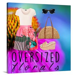 """Oversized Florals"" by lucky55ks ❤ liked on Polyvore featuring Joseph, Mary Katrantzou, San Diego Hat Co. and oversizedflorals"