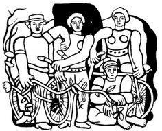 Fernand leger the beautiful team - Masterpieces Coloring Pages for Adults - Just Color Colouring Pages, Printable Coloring Pages, Adult Coloring Pages, Coloring Books, Salvador Dali, Ecole Art, Printed Pages, Henri Matisse, Art Techniques