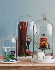 cositas en domos de vidrio