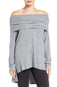 Free shipping and returns on Gibson Convertible Neckline Cozy Fleece Tunic (Regular & Petite) at Nordstrom.com. Wonderfully cozy fleece knit will keep this pullover right at the front of your cool-weather closet. The relaxed style features a face-framing cowl neckline that can also be draped off the shoulder and a flowy high/low hem with side slits.