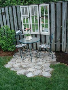 23 Easy-to-Make Ideas Building a Small Backyard Seating Area - Easy Diy Garden Projects Backyard Seating, Small Backyard Landscaping, Backyard Patio, Backyard Ideas, Landscaping Ideas, Garden Ideas, Patio Ideas, Fence Ideas, Diy Garden