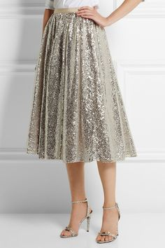 Alice + Olivia | Justina sequined tulle skirt | NET-A-PORTER.COM (I think I can make a version of this).