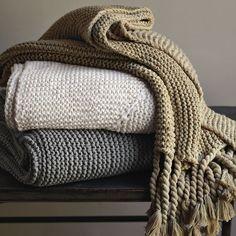West Elm Chunky Knit Tassel Throw | Remodelista