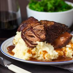 Crockpot Short Ribs. Fall-apart beef served with a rich and meaty red wine gravy. This is serious comfort food.