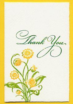 Dainty Daisy Thank You cards