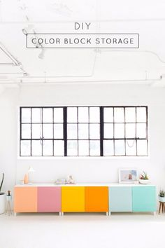 Best IKEA Hacks and DIY Hack Ideas for Furniture Projects and Home Decor from IKEA - DIY Color Block Storage - Creative IKEA Hack Tutorials for DIY Platform Bed, Desk, Vanity, Dresser, Coffee Table, Storage and Kitchen, Bedroom and Bathroom Decor http://diyjoy.com/best-ikea-hacks