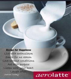 recipe for happiness #aerolatte #coffee