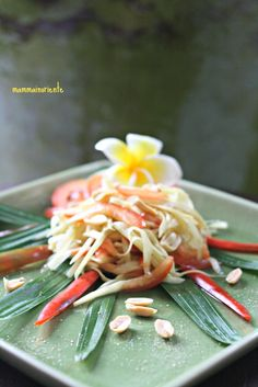 Insalata Thai di papaya verde (o mela verde) - cucina thai