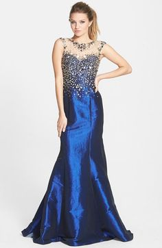 Mac+Duggal+Embellished+Taffeta+Gown+(Juniors)+available+at+#Nordstrom