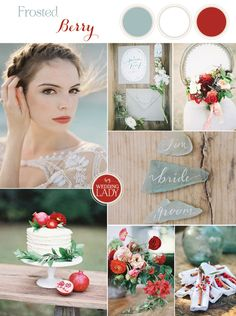Frosted Berry - A Twist on a Classic Winter Palette in Sea Glass and Pomegranate