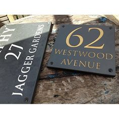 Heavy Quality Hand Crafted Slate Door/Gate House Signs or Numbers Various Sizes by Scottish Slate Gift