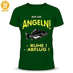 """Fun-Shirt """" Bin am Angeln !!! """" Größen S - XXL XXL - T-Shirts mit Spruch   Lustige und coole T-Shirts   Funny T-Shirts (*Partner-Link)"""