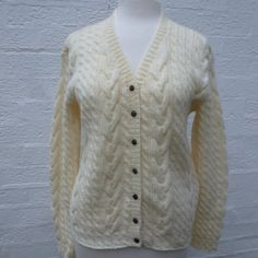 Hey, I found this really awesome Etsy listing at https://www.etsy.com/listing/187940180/handknitted-cardigan-vtg-wool-cardigan