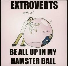 Except for the fact that I am technically an extrovert, yes this is EXACTLY what it feels like!
