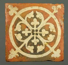 Inlay tile from Tintern Abbey, late 13C to early 14C. ©National Museums & Galleries of Wales