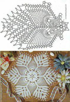 Lace Doilies, Crochet Doilies, Crochet Lace, Doily Patterns, Crochet Patterns, Pineapple Design, Filet Crochet, Baby Knitting, Mandala