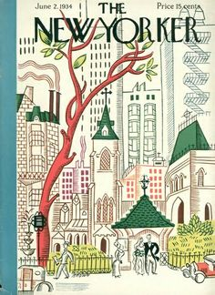 #papercraft #MagazineMondays #inspiration: The New Yorker, Harry Brown. 1934