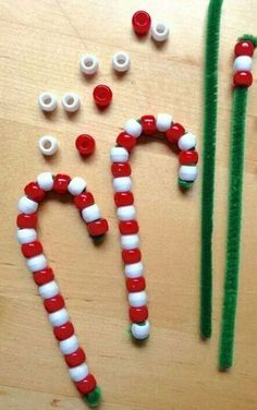 60+ Wonderful Christmas Craft for Kids to Make_3 Toddler Christmas Crafts, Kids Christmas Ornaments, Diy Ornaments, Kindergarten Christmas Crafts, Diy Christmas, Candy Cane Ornament, Homemade Christmas, Christmas Activities For Kids, Christmas Craft Projects