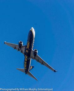 "FlightFest - September 2013 [Dublin] - ""U Never Beat D Irish!"" - Ryanair, Who Else? [Photograph Supplied By William Murphy] September 2013, Once In A Lifetime, Dublin, Never, Slogan, Beats, Fighter Jets, Irish, Aircraft"