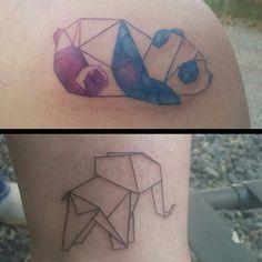 I like the panda.  15 Friendship Tattoos That Aren't Totally Cheesy via Brit + Co.