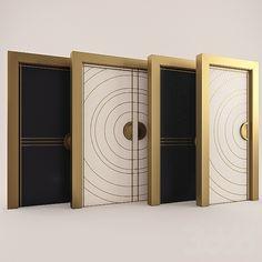 3d модели: Окна и двери - Art deco doors