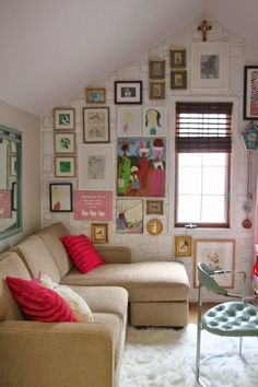 Teen Room. Designing Comfortable Hangout Room For Teenage. Hangout Small Room For Teenage With Neutral Tone Sectional L Shape Sofa And Red Small Cushions Ideas And Vintage Single Chair Ideas Along With White Fur Rug Ideas