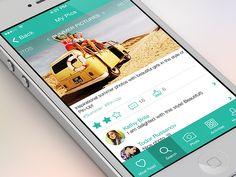 New shot of the application on dribbble by Sergey Vlastjuk