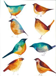 hand painted birds - Google Search