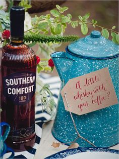Pin for Later: Giddyap, Girl! How to Throw a Honky-Tonk Bridal Shower Southern Comfort Photo by Nine Photography via The Wedding Chicks Western Bridal Showers, Wedding Brunch Reception, Wedding Guest Makeup, Kind Bars, Fall Wedding Decorations, Wedding Breakfast, Southern Comfort, Makeup For Brown Eyes, Wedding Designs