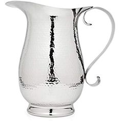 Take a look at this Hammered Stainless Steel Pitcher today! Tiered Server, Serveware, Handmade Silver, Tea Set, Candlesticks, Silver Plate, Plating, Stainless Steel, Crystals