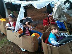 pirate ship choo choo wagon for Halloween