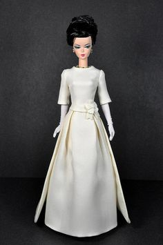 114-3. Jackie O. Ivory Inaugural Gown for Silkstone dolls | Flickr - Photo Sharing!