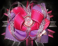 GIRLS~Sesame Street Inspired~ABBY CADABBY~Stacked Boutique Hair Bow~ | eBay