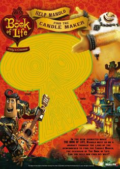 The BOOK OF LIFE World Market Exclusives - exclusive toys from the movie which takes place during the Day of the Dead. Book Of Life Movie, New Animation Movies, Candle Maker, Movie Releases, Activity Sheets, Mexican Art, World Market, 9th Birthday, The Guardian