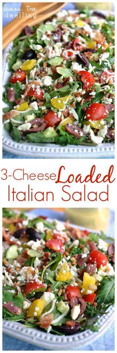 3-Cheese Loaded Italian Salad | Lemon Tree Dwelling