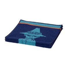 Hauska Nuuskamuikkunen- käsipyyhe tummansinisessä ja turkoosissa värissä. Muumipappa pyyhe on taattua Finlayson- laatua.Väri tummansininen / aqua. Koko 30 x 50 cm.