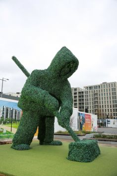 This 20-foot topiary sculpture, is London East Village's newest, greenest, and tallest resident.