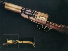 Mershon and Hollingsworth Revolving Cylinder Automatic Rifle, 1855. Reportedly capable of fully-automatic fire, a rare feature amongst percussion firearms.
