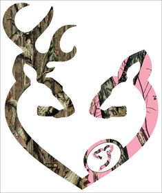 Browning style camo and pink camo pregnant love heart shaped with baby doe deer buck doe print decal sticker Baby Shower Camo, Baby Shower Winter, Browning Symbol, Camo Cakes, Camo Wallpaper, Camo Party, Stag And Doe, Getting Ready For Baby, Camo Baby Stuff