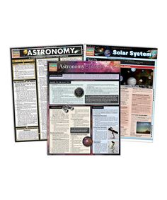 Look at this #zulilyfind! Astronomy Quick Study Laminated Reference Sheet Set by BarCharts #zulilyfinds