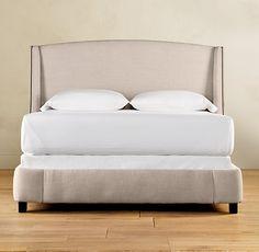 Warner Upholstered Bed without Footboard   Upholstered Beds   Restoration Hardware