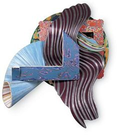 Frank Stella, The Quadrant, 1987-1988. Mixed media on etched magnesium, 234.32 cm x 210.19 cm x 125.73 cm. Collection SFMOMA