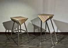 Prism_Pyramid_Bar_stool | Ushki design studio Tel aviv